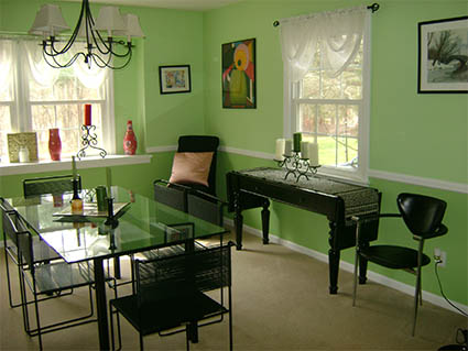 Green Dining Room Before