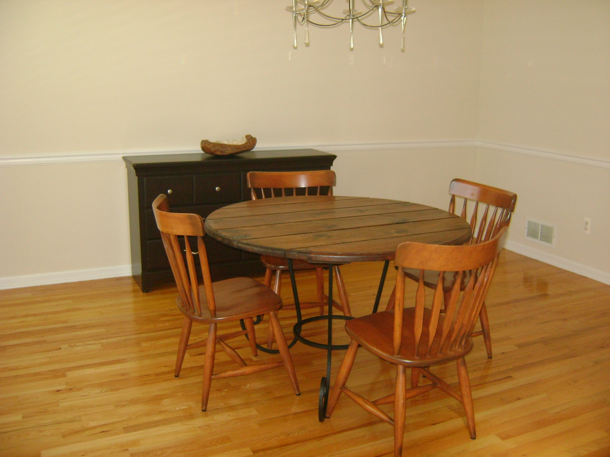 Wooden Dining Room - Before