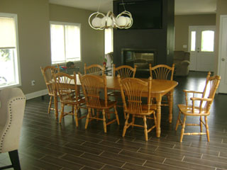 Large Dining Area with Fireplace - Before